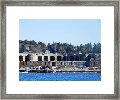 Fort Popham In Maine Framed Print by Catherine Gagne