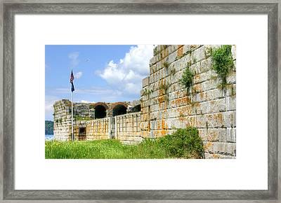 Fort Popham In Phippsburg Maine Framed Print