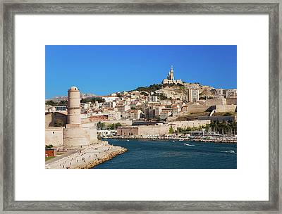 Fort Saint-jean And Old Port Of Third Framed Print