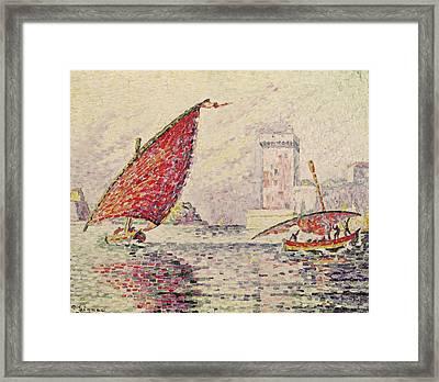 Fort Saint-jean, Marseilles Framed Print by Paul Signac