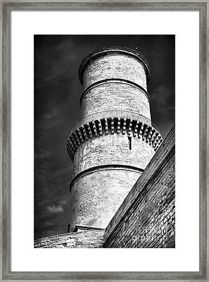 Fort Saint-jean Tower Framed Print by John Rizzuto