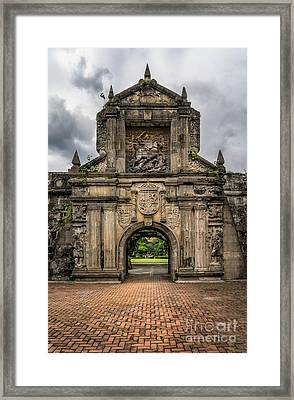 Fort Santiago Framed Print by Adrian Evans