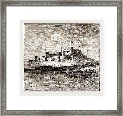 Fort St. George, Elmina Framed Print by Litz Collection