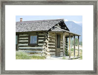 Framed Print featuring the photograph Fort Steele Cabin by Margaret Buchanan