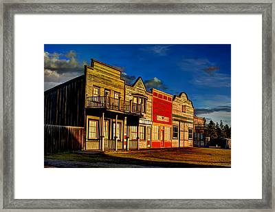 Framed Print featuring the photograph Fort Steele by Rob Tullis