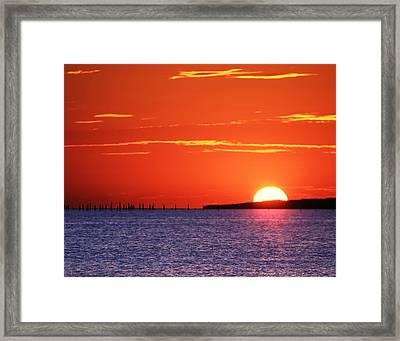 Fort Story Sunrise Framed Print