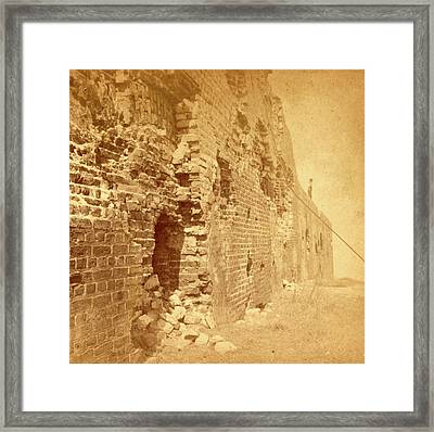 Fort Sumter. Fort Sumter Is A Third System Masonry Sea Fort Framed Print by Litz Collection