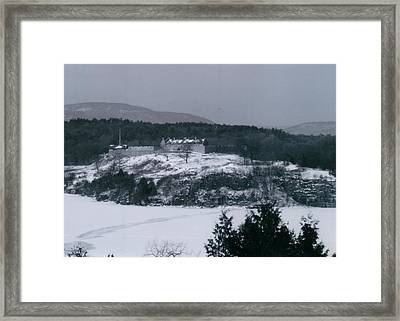 Fort Ticonderoga From Mount Independence Framed Print by David Fiske