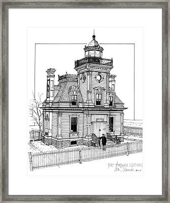 Fort Tompkins Lighthouse Framed Print