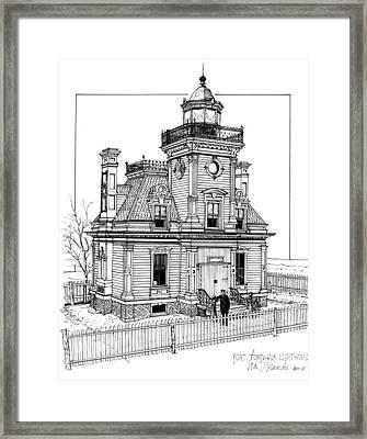 Fort Tompkins Lighthouse Framed Print by Ira Shander