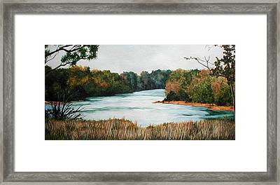 Fort Toulouse Coosa Tallapoosa River Framed Print by Beth Parrish