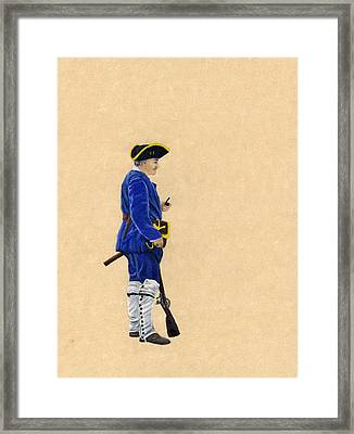 Fort Toulouse Soldier At Ease Framed Print by Beth Parrish