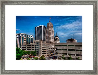 Fort Wayne Skyscrapers Framed Print