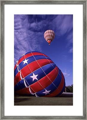 Fort Worth Balloons Framed Print