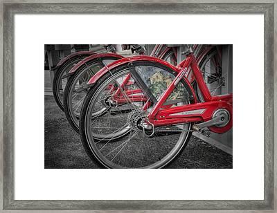 Fort Worth Bikes Framed Print