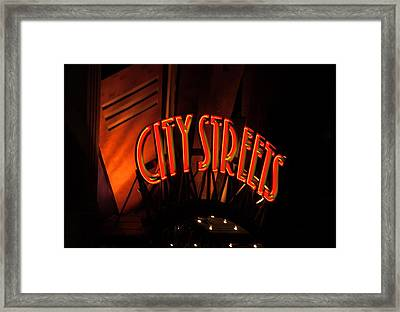 Fort Worth City Streets Framed Print