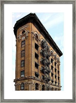 Fort Worth Flatiron Building Framed Print