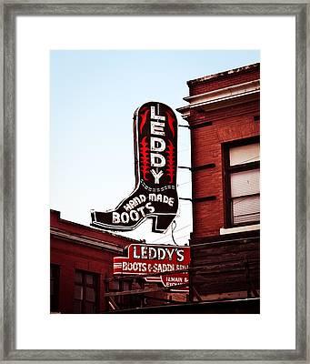 Fort Worth Leddy Framed Print by Sonja Quintero