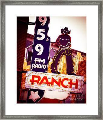 Fort Worth Radio Framed Print by Sonja Quintero
