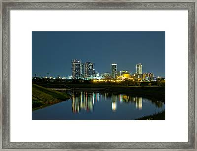 Fort Worth Reflection Framed Print by Jonathan Davison