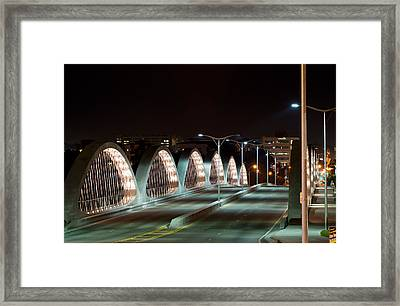 Fort Worth Seventh Street Bridge Oct 10 2014 Framed Print