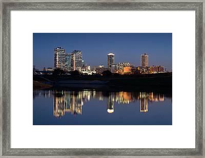 Fort Worth Skyline 020915 Framed Print