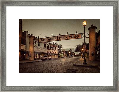 Fort Worth Stockyards Framed Print