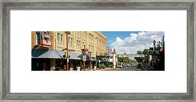 Fort Worth Stockyards, Fort Worth Framed Print