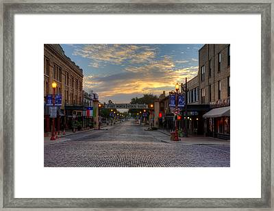 Fort Worth Stockyards Sunrise Framed Print