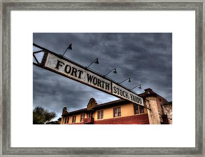 Fort Worth Stockyards Welcome Framed Print by Jonathan Davison