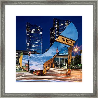Fort Worth Texas Framed Print by Marvin Blaine