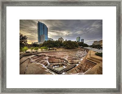 Fort Worth Water Garden Framed Print