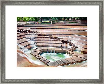 Fort Worth Water Garden V7 Framed Print