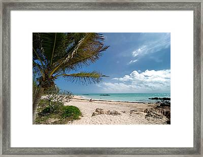 Fort Zachary Taylor Beach Framed Print