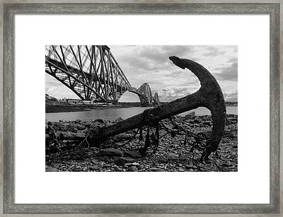 Forth Bridge Anchor Framed Print by Jeremy Voisey