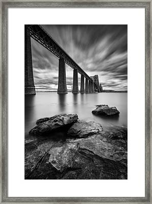Forth Bridge Framed Print by Dave Bowman