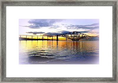 Forth Rail Bridge At Sunset Framed Print by The Creative Minds Art and Photography