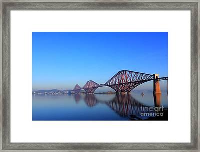 Forth Rail Bridge Framed Print by David Grant