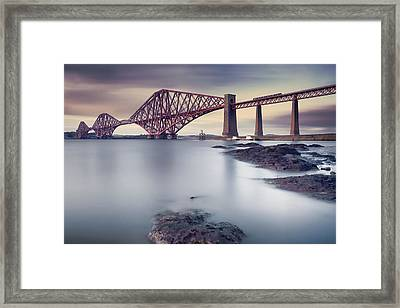 Forth Rail Bridge Framed Print by Martin Vlasko