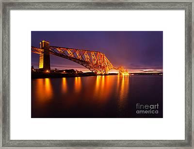 Forth Rail Bridge Pre Dawn Framed Print by John Farnan