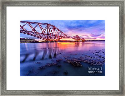 Forth Rail Bridge Stunning Sunrise Framed Print by John Farnan