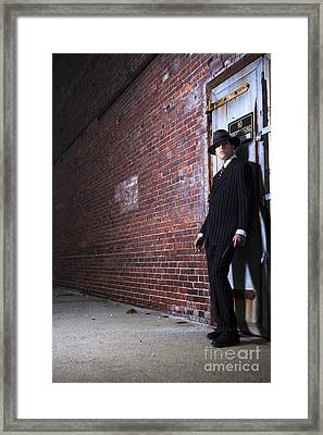 Forties Style Film Noir Gangster Framed Print by Diane Diederich