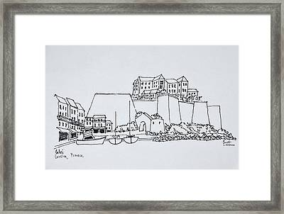Fortified City Of Calvi, Corsica, France Framed Print