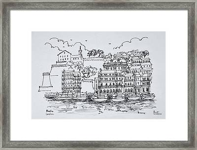 Fortified Port Of Bastia, Corsica Framed Print