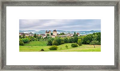 Fortified Town Of Curemonte, Correze Framed Print by Panoramic Images