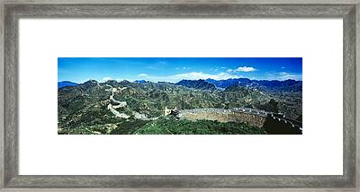 Fortified Wall On A Mountain, Great Framed Print