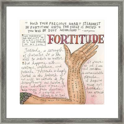 Fortitude Framed Print