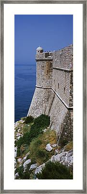 Fortress Of St Petar As Seen From City Framed Print
