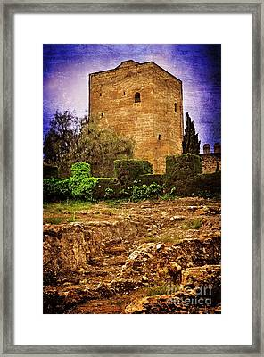 Fortress Tower Framed Print by Mary Machare