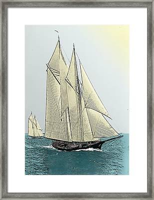 Fortuna - Schooner Yacht Framed Print